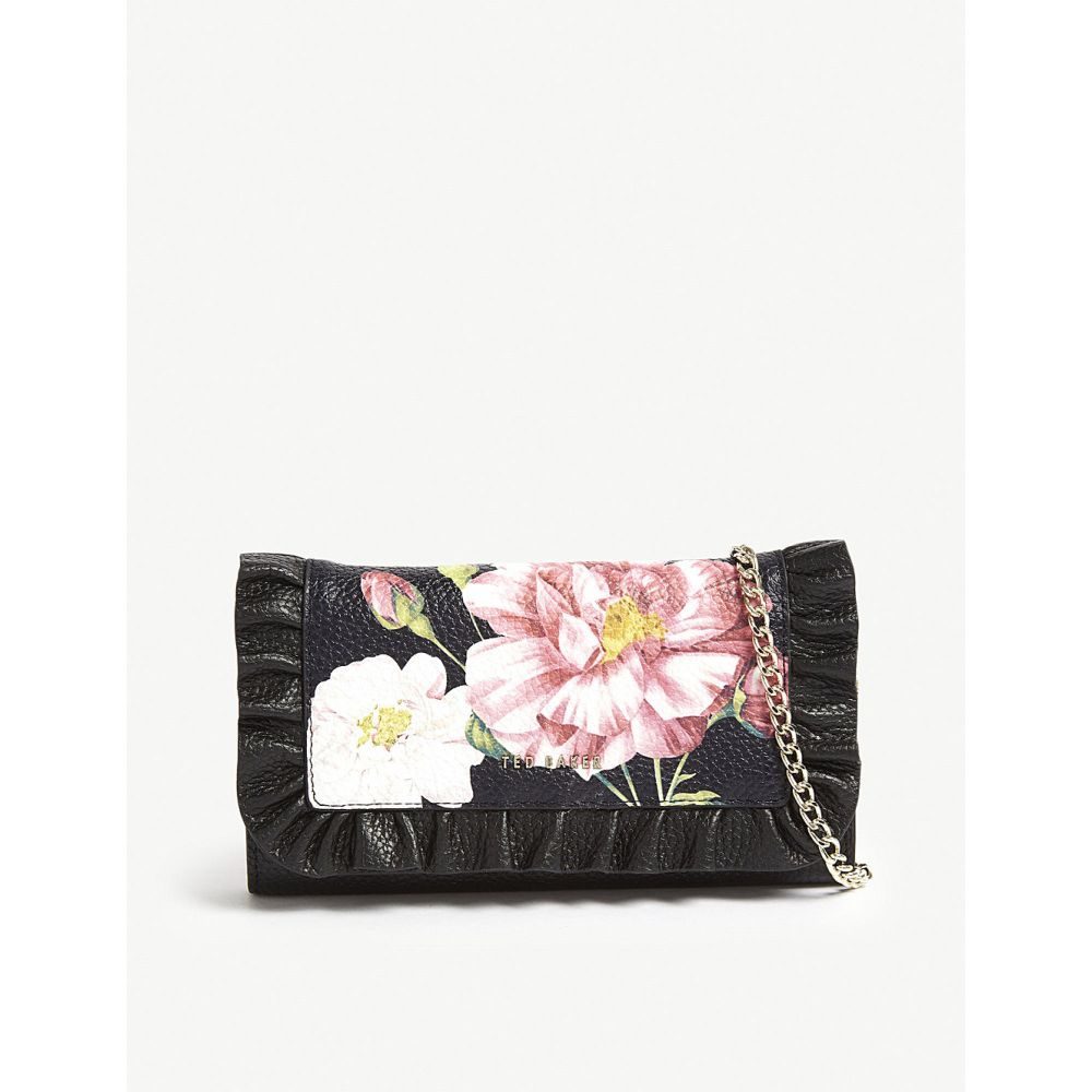 テッドベーカー ted baker レディース 財布【iguazu floral leather wallet-on-chain】Black
