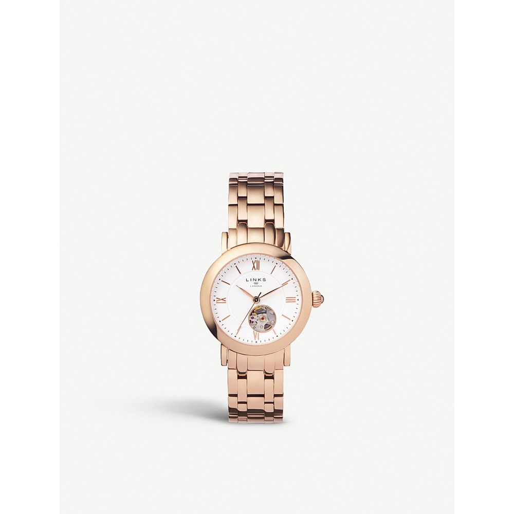 リンクス オブ ロンドン links of london レディース 腕時計【60102697 noble rose gold-plated chronograph watch】Rose gold