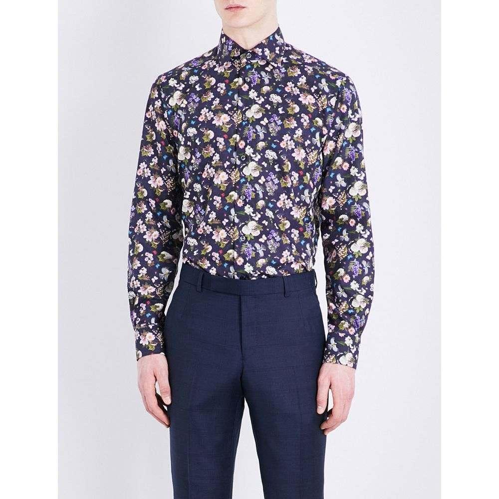 イートン eton メンズ トップス シャツ【contemporary-fit cotton shirt】Blue