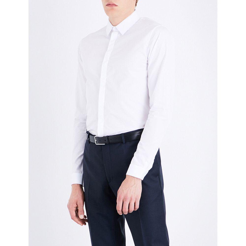 サンドロ sandro メンズ トップス シャツ【slim-fit cotton shirt】Blanc