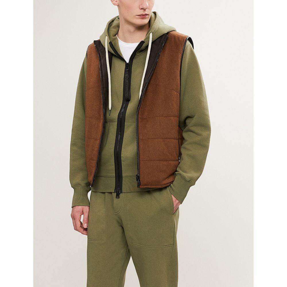 トム フォード tom ford メンズ トップス パーカー【logo-embossed cotton-jersey hoody】Khaki