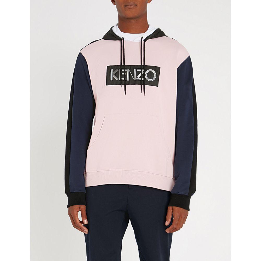 ケンゾー kenzo メンズ トップス パーカー【panelled cotton-jersey hoody】Pink