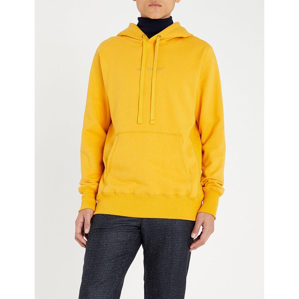 エイム レオンドレ aime leon dore メンズ トップス パーカー【kanga logo-embroidered cotton-jersey hoody】Mustard