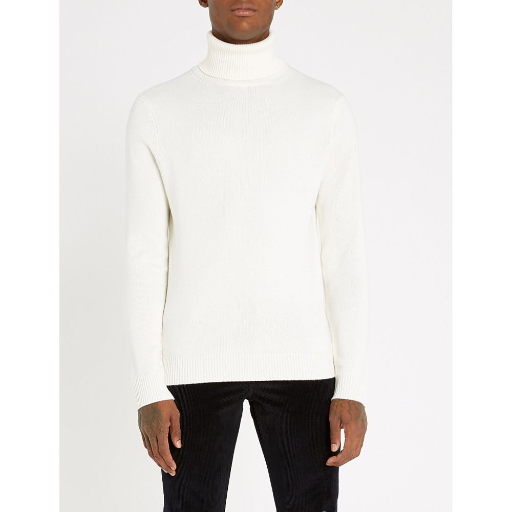 サンドロ sandro メンズ トップス ニット・セーター【turtleneck wool and cashmere-blend jumper】Ecru