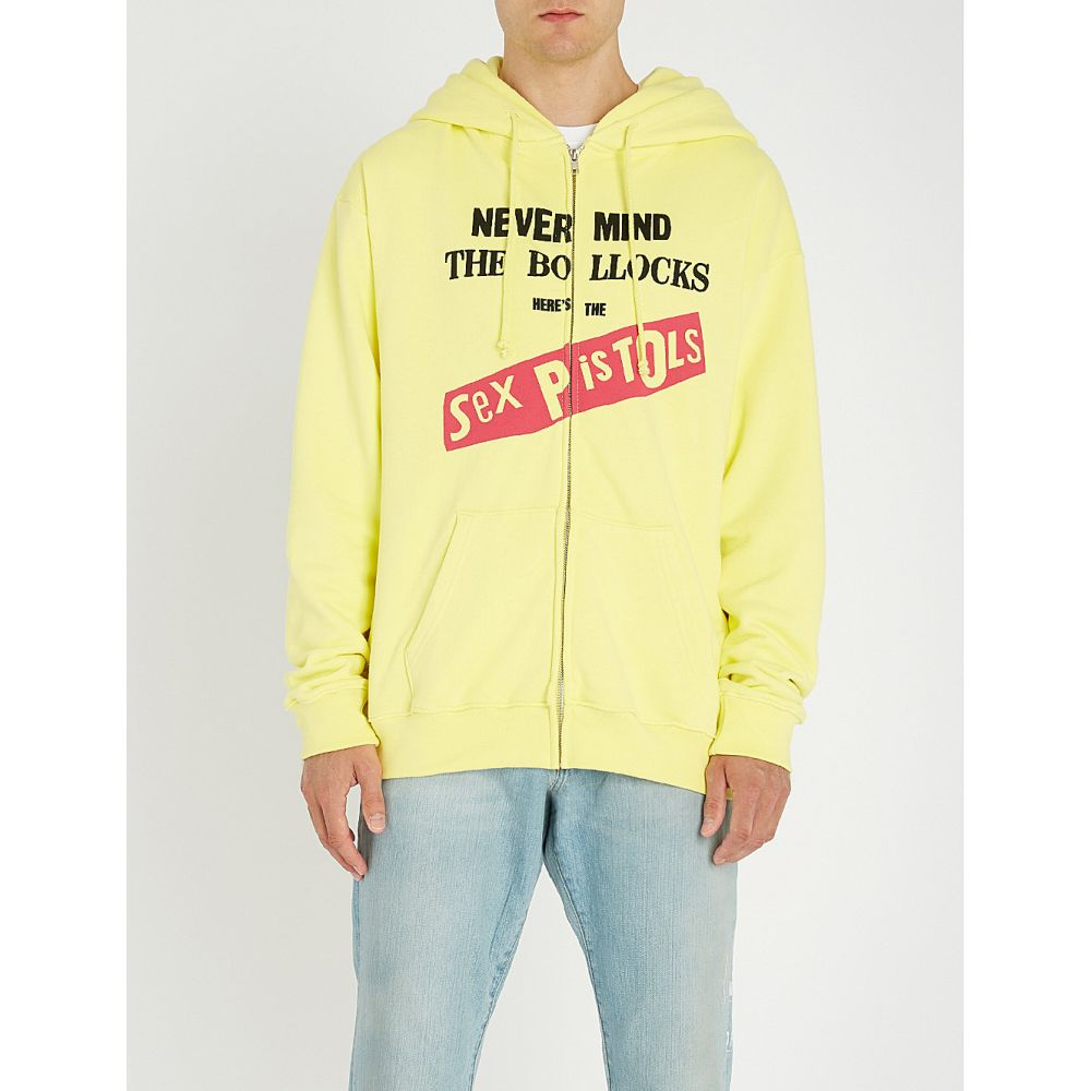 ミッドナイト スタジオ midnight studios メンズ トップス パーカー【sex pistols nevermind cotton-jersey zip-front hoody】Yellow