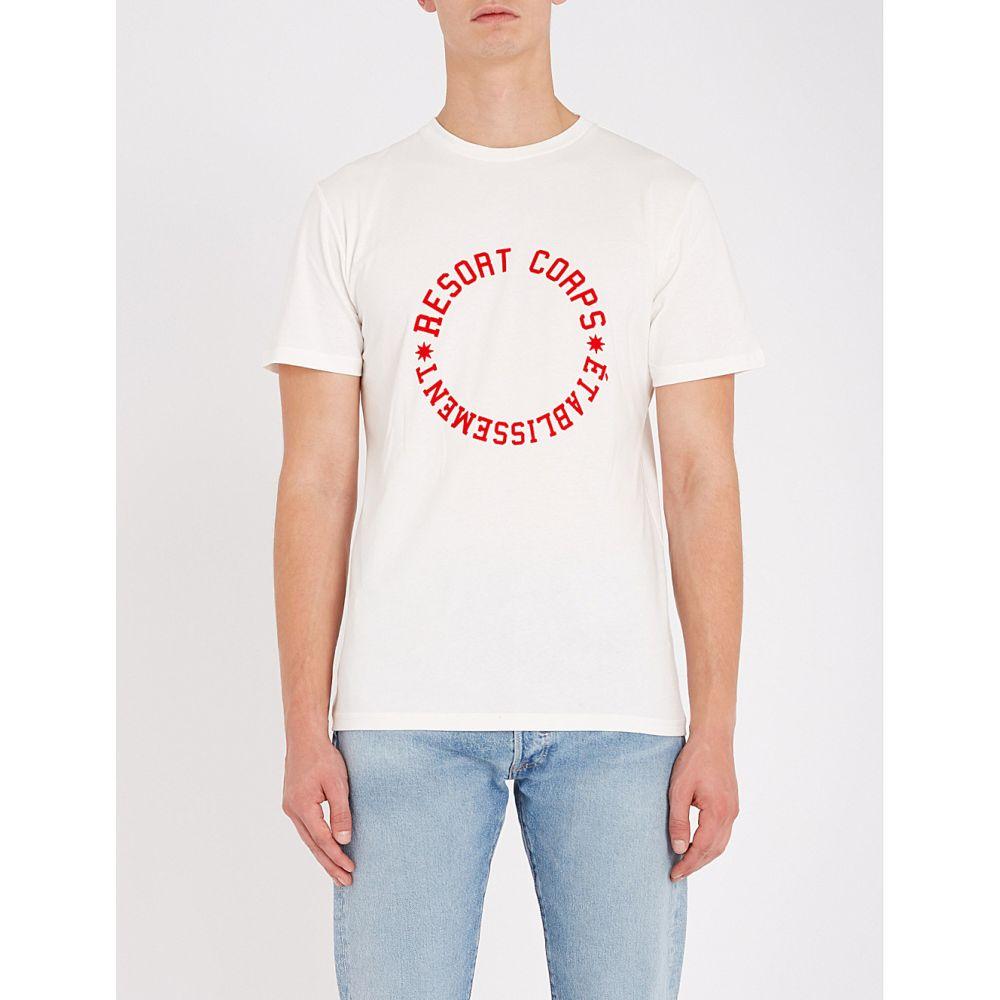 リゾートコープ resort corps メンズ トップス Tシャツ【reset cotton-jersey t-shirt】Off white