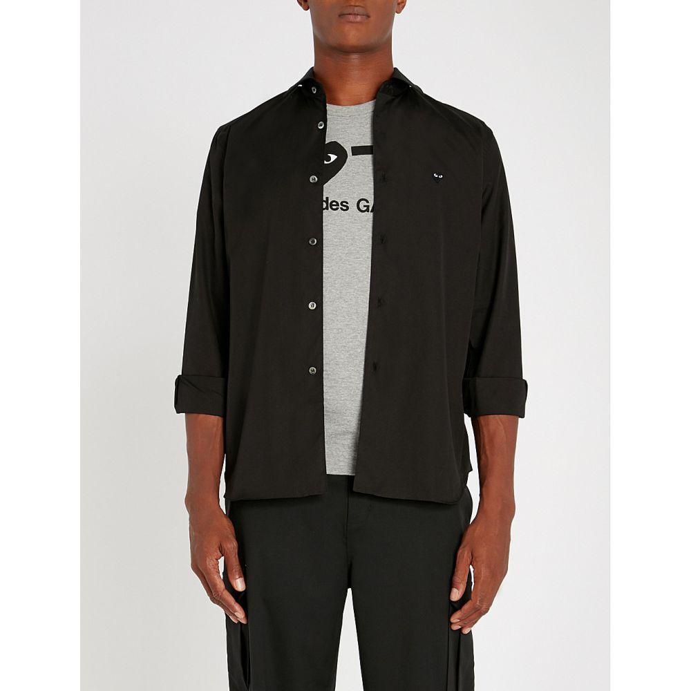 コム デ ギャルソン comme des garcons play メンズ トップス シャツ【tonal heart logo-embroidered regular-fit cotton shirt】Black