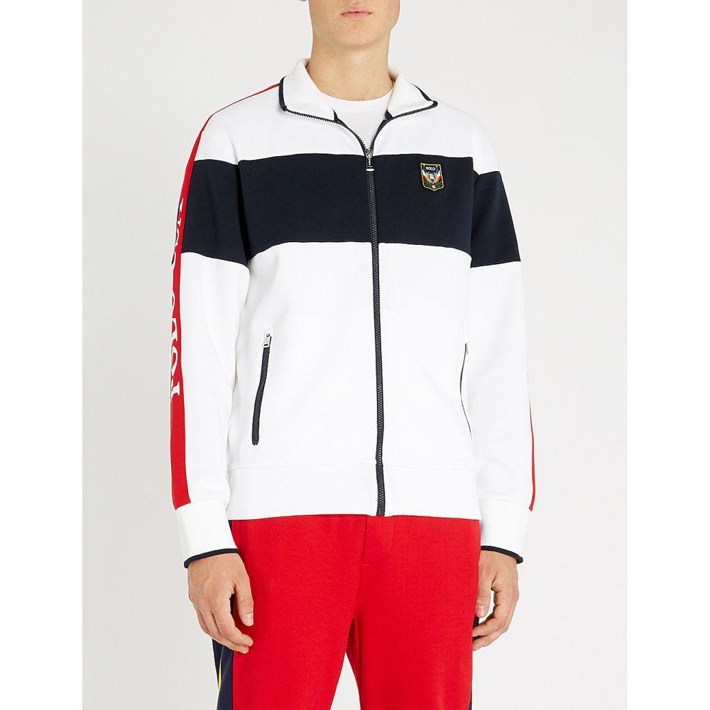 ラルフ ローレン polo ralph lauren メンズ トップス スウェット・トレーナー【contrast-panel stretch-cotton sweatshirt】White multi