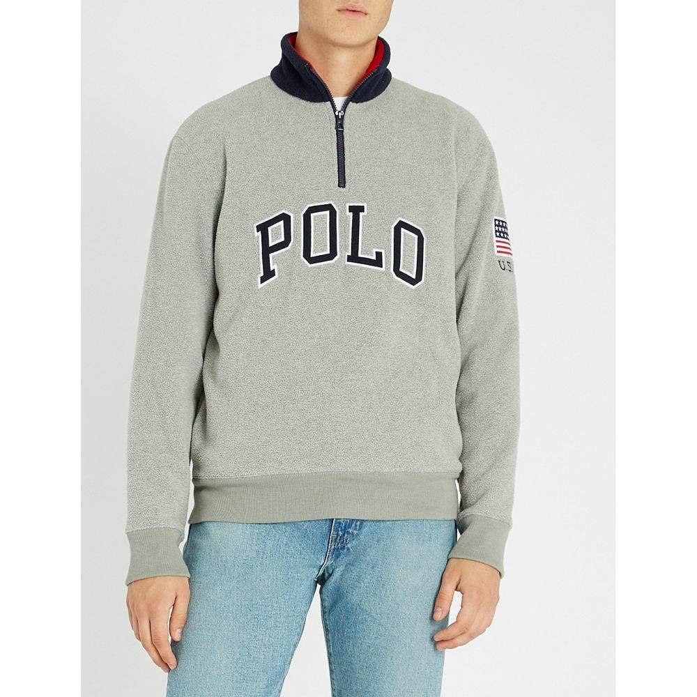 ラルフ ローレン polo ralph lauren メンズ トップス ニット・セーター【logo-applique woven jumper】Andover heather