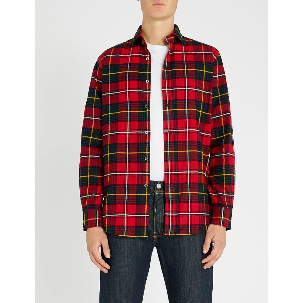 ラルフ ローレン polo ralph lauren メンズ トップス シャツ【checked regular-fit cotton shirt】red/evergreen