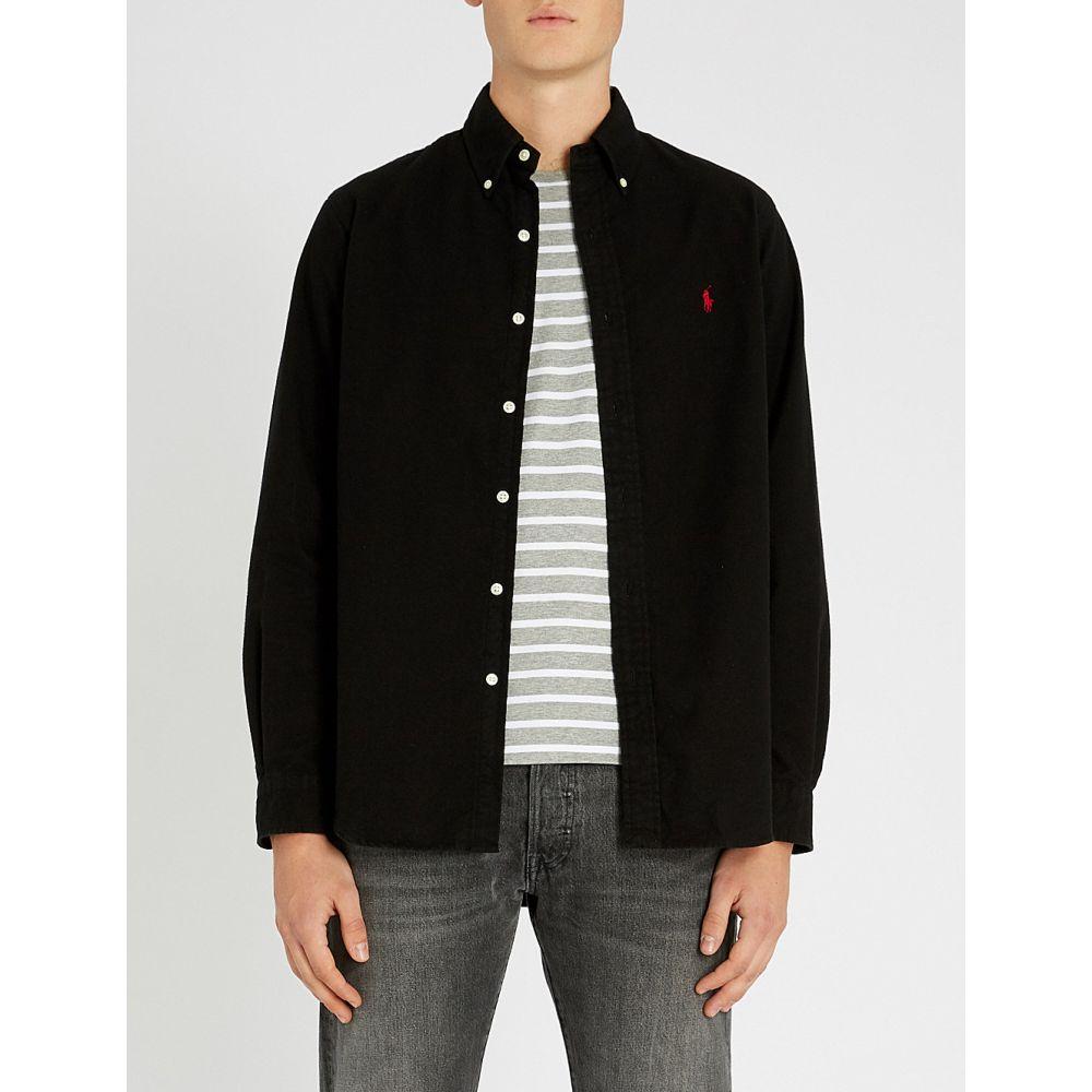 ラルフ ローレン polo ralph lauren メンズ トップス シャツ【button down brushed-cotton shirt】Polo black