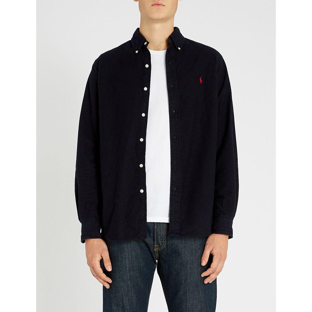 ラルフ ローレン polo ralph lauren メンズ トップス シャツ【button down brushed-cotton shirt】Rl navy