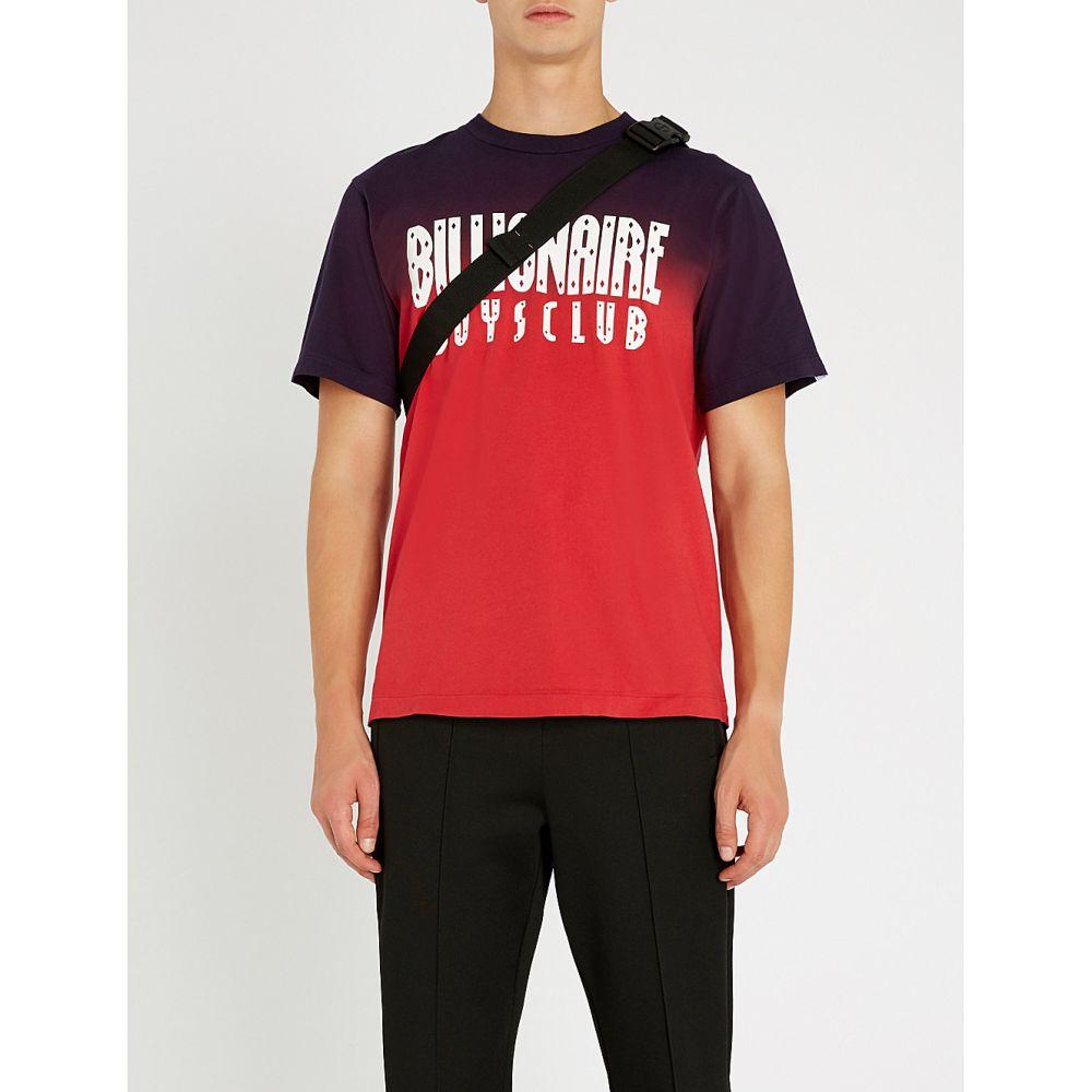 ビリオネアボーイズクラブ billionaire boys club メンズ トップス Tシャツ【logo-print cotton-jersey t-shirt】Red