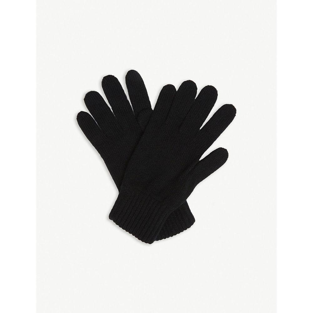ジョンストンズ johnstons メンズ 手袋・グローブ【plain cashmere gloves】Black