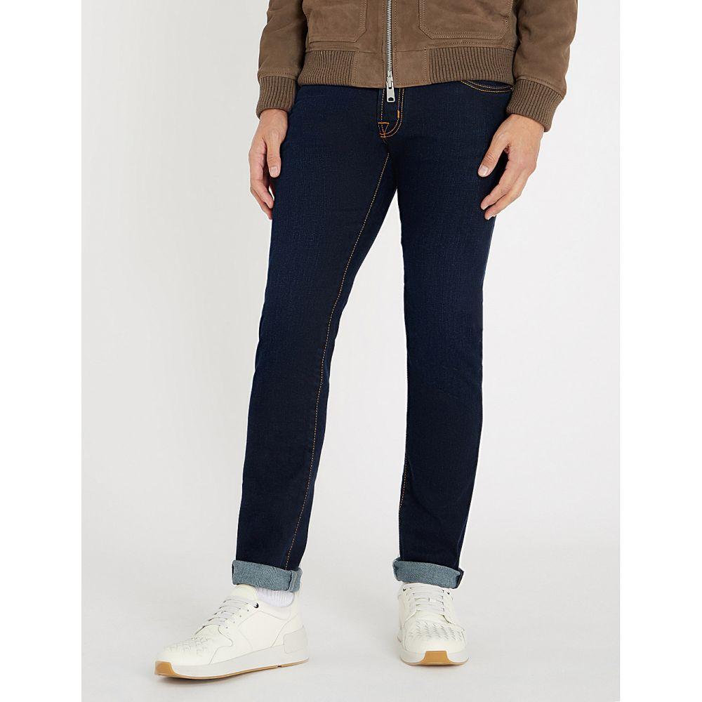 ヤコブ コーエン jacob cohen メンズ ボトムス・パンツ ジーンズ・デニム【tailored-fit straight jeans】Navy red