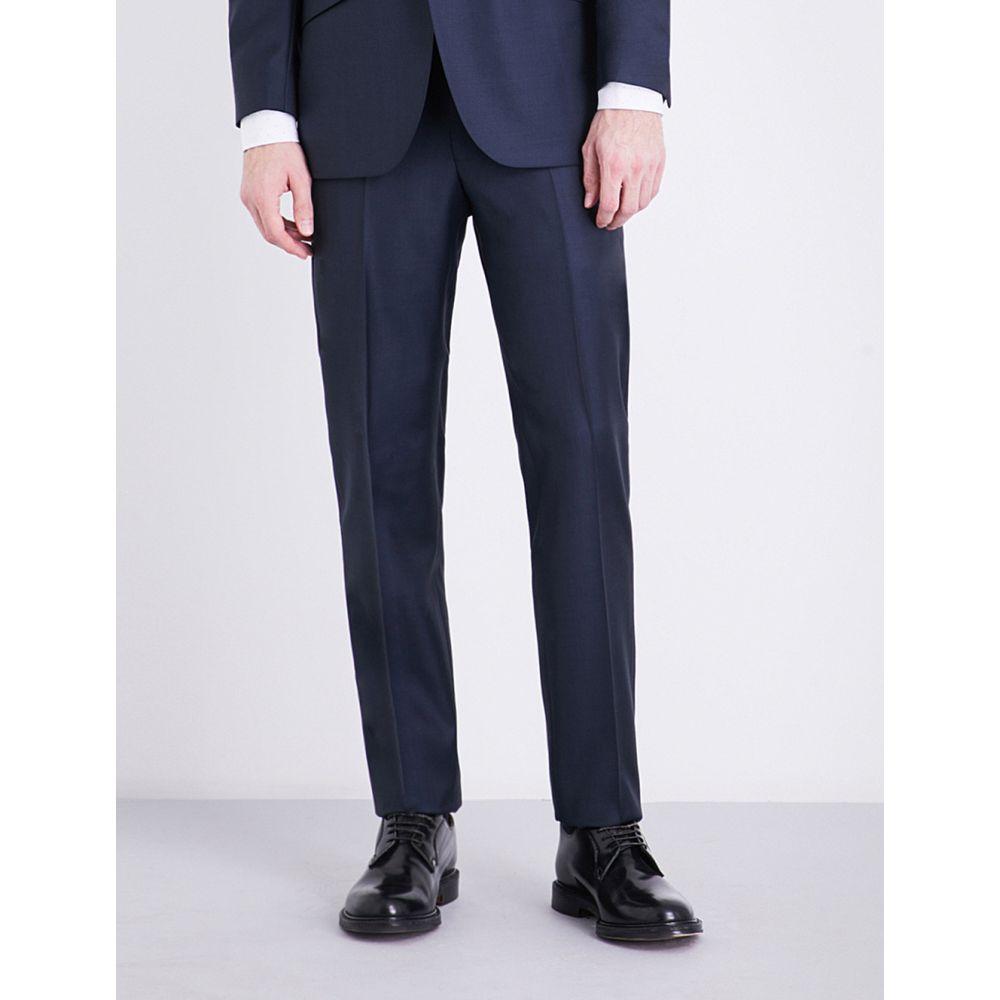 リチャード ジェームス richard james メンズ ボトムス・パンツ スラックス【checked regular-fit wool suit】Navy