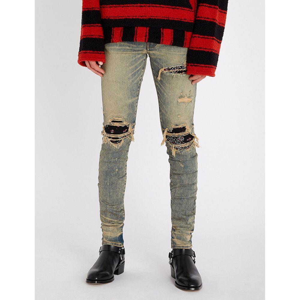 アミリ amiri メンズ ボトムス・パンツ ジーンズ・デニム【bandana slim-fit skinny jeans】Dirty indigo