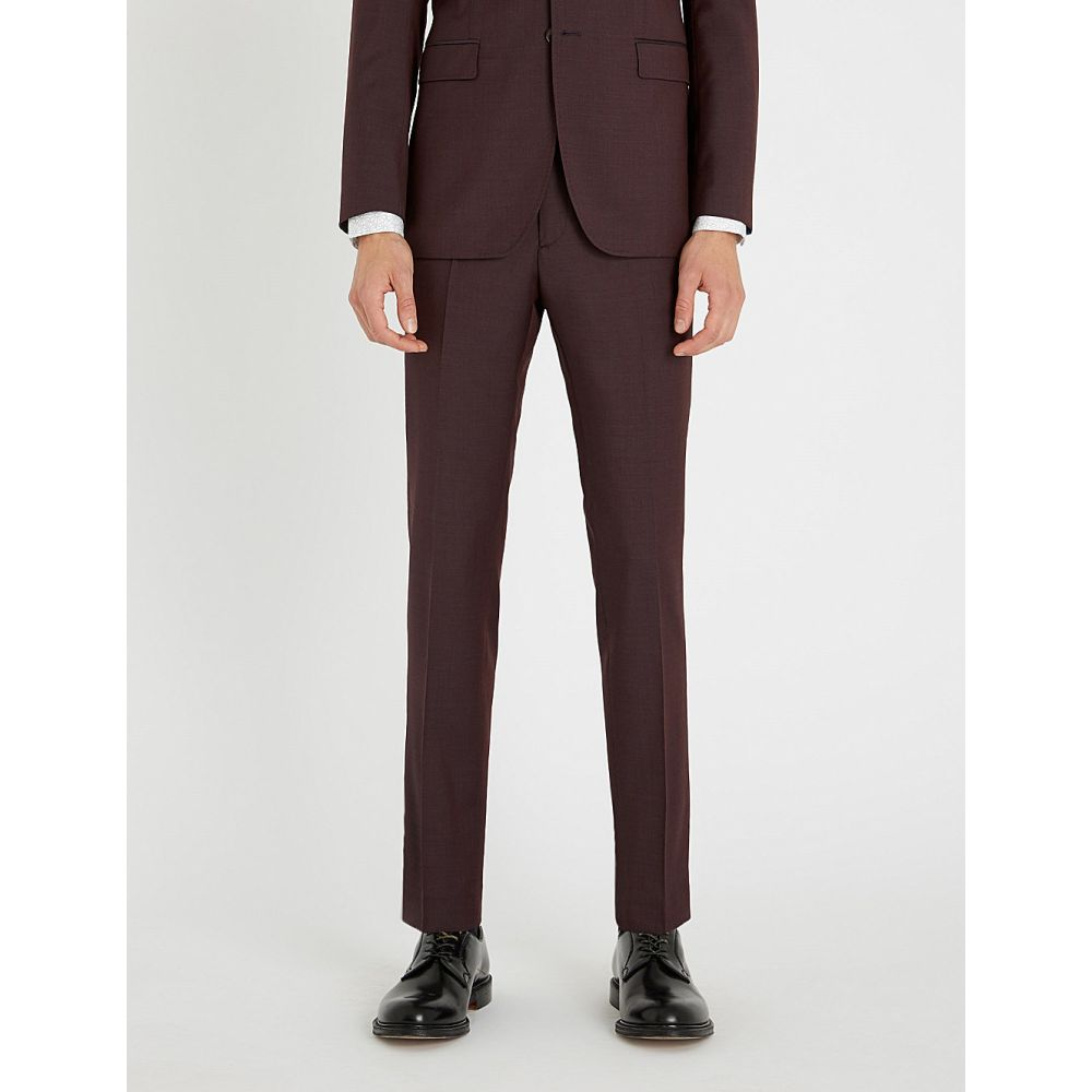 テッドベーカー ted baker メンズ ボトムス・パンツ スラックス【debonair wool trousers】Dark red