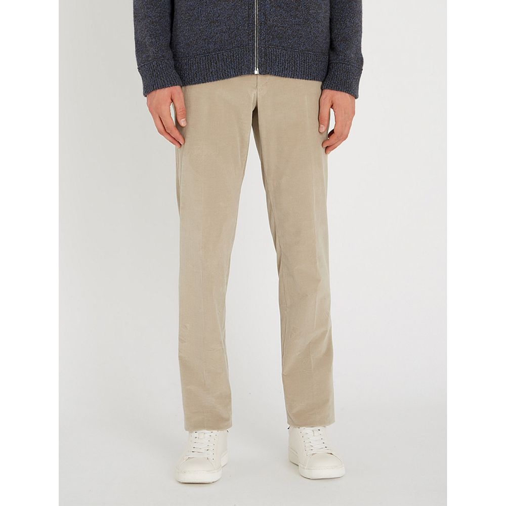 コルネリアーニ corneliani メンズ ボトムス・パンツ【cotton-corduroy straight-leg trousers】Beige