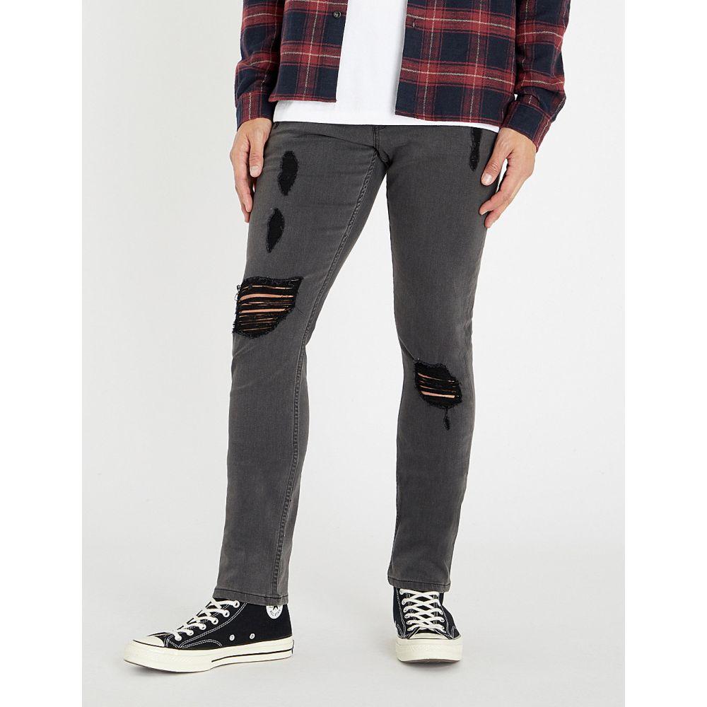 ペイジ paige メンズ ボトムス・パンツ ジーンズ・デニム【lennox slim-fit distressed skinny jeans】Grey sky