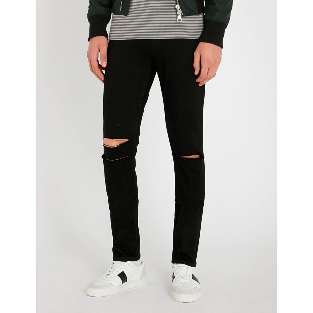 ペイジ paige メンズ ボトムス・パンツ ジーンズ・デニム【croft slim-fit distressed skinny jeans】Black rain