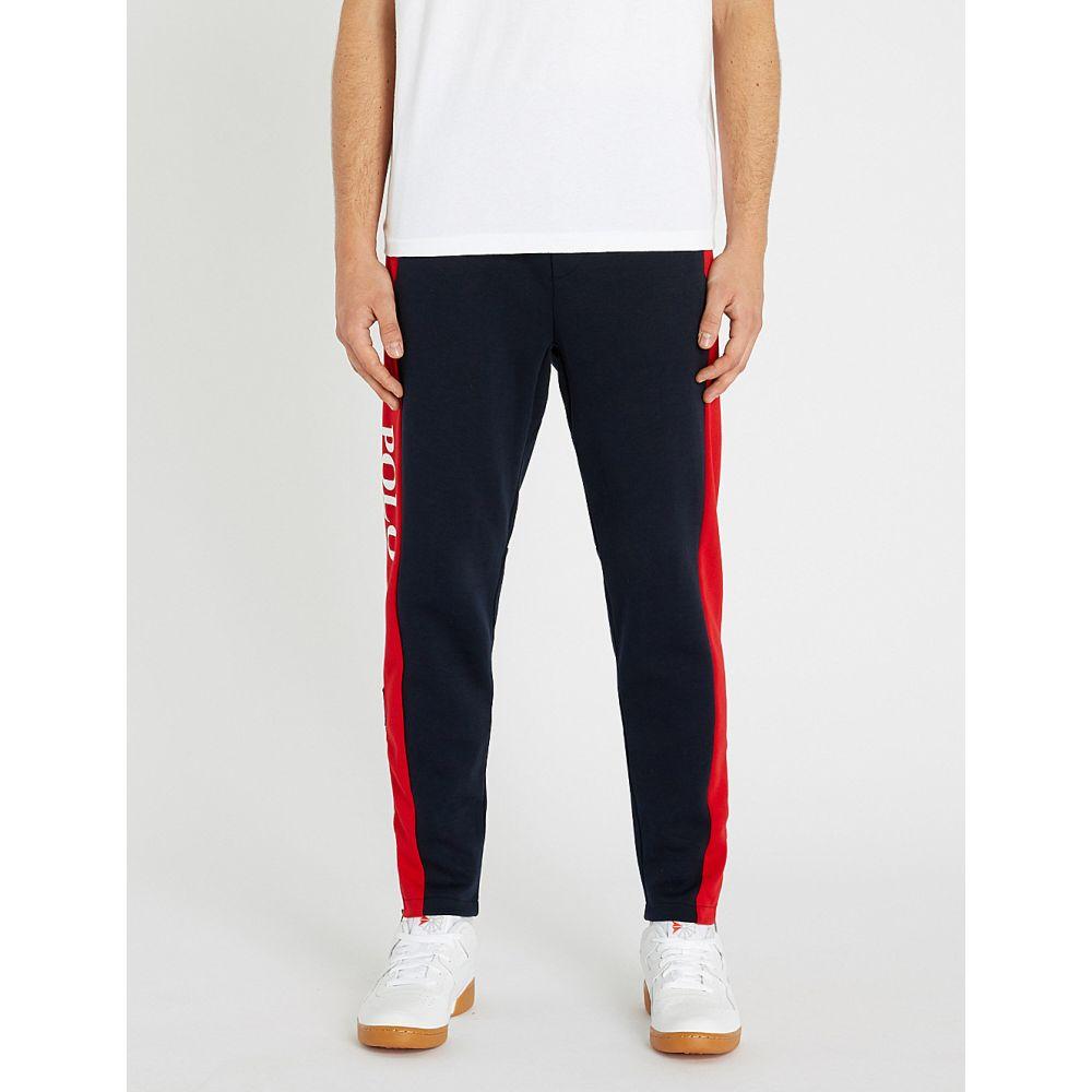 ラルフ ローレン polo ralph lauren メンズ ボトムス・パンツ【contrast stripe cotton-blend jogging bottoms】Aviator navy/rl red
