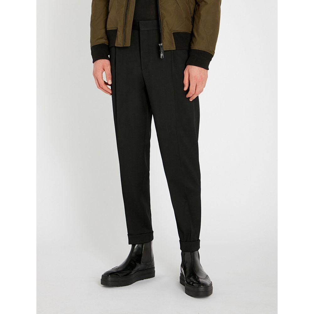コルネリアーニ corneliani メンズ ボトムス・パンツ スラックス【regular-fit tapered wool-blend trousers】Black
