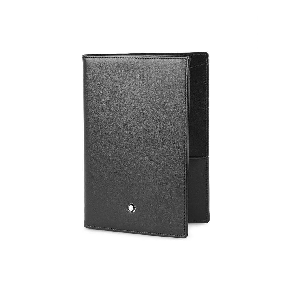 モンブラン montblanc メンズ パスポートケース【meisterstuck leather passport holder】Black