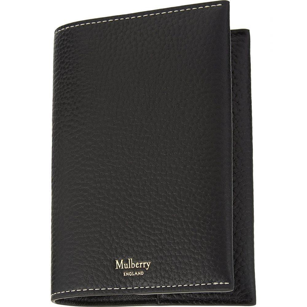 マルベリー mulberry メンズ パスポートケース【grained leather passport cover】Black