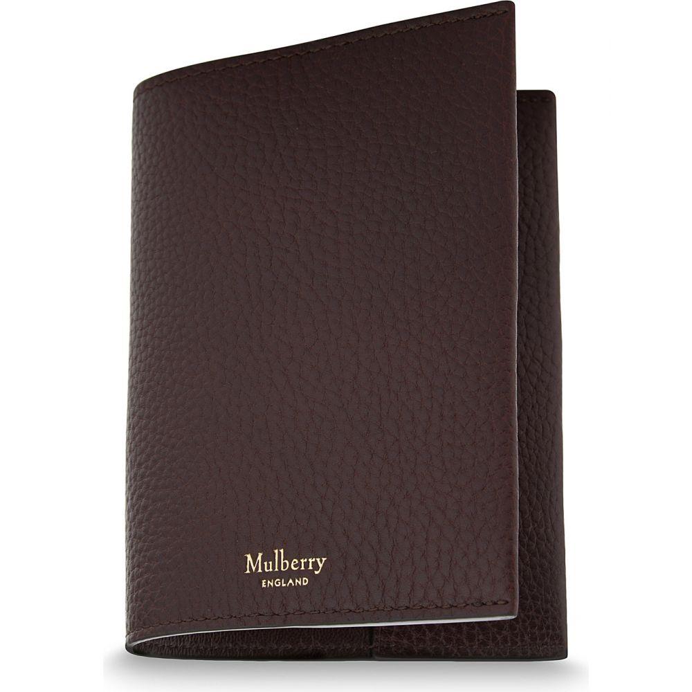マルベリー mulberry メンズ パスポートケース【grained leather passport cover】Oxblood