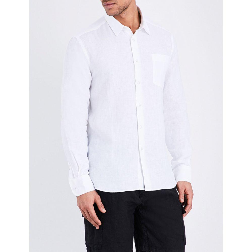ヴィルブレクイン vilebrequin メンズ 水着・ビーチウェア ビーチウェア【caroubis regular-fit linen shirt】White
