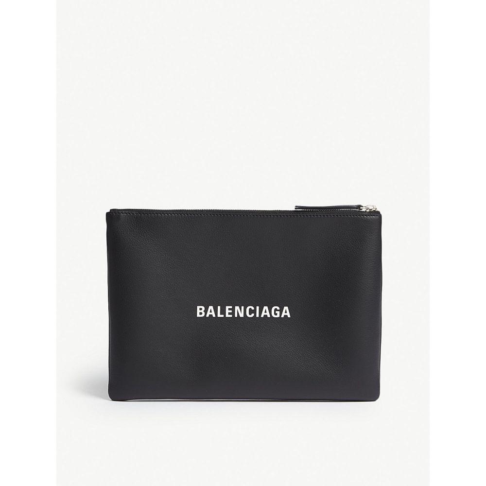 バレンシアガ balenciaga メンズ ポーチ【everyday logo leather pouch】Black yellow