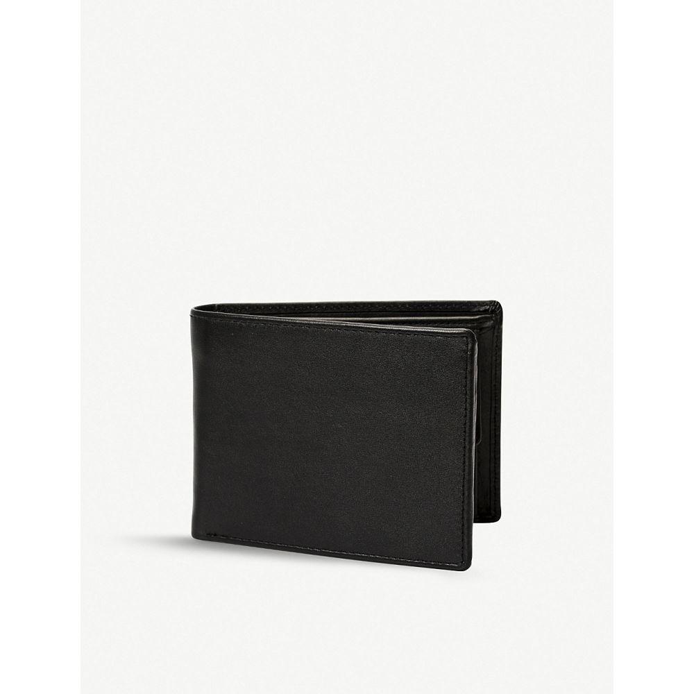 デンツ dents メンズ 財布【rfid protection leather trifold wallet】Black