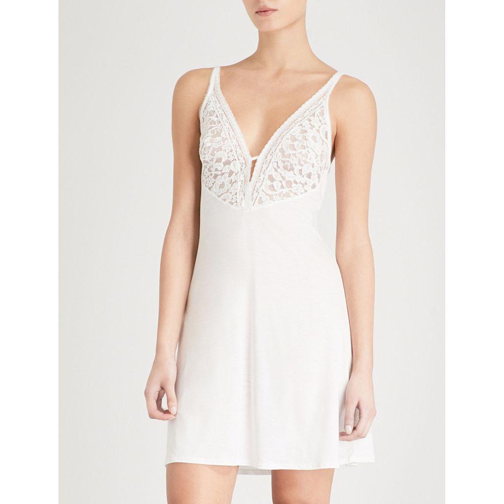 ワコール wacoal レディース インナー・下着 スリップ・キャミソール【eternal lace and jersey chemise】White jasmin