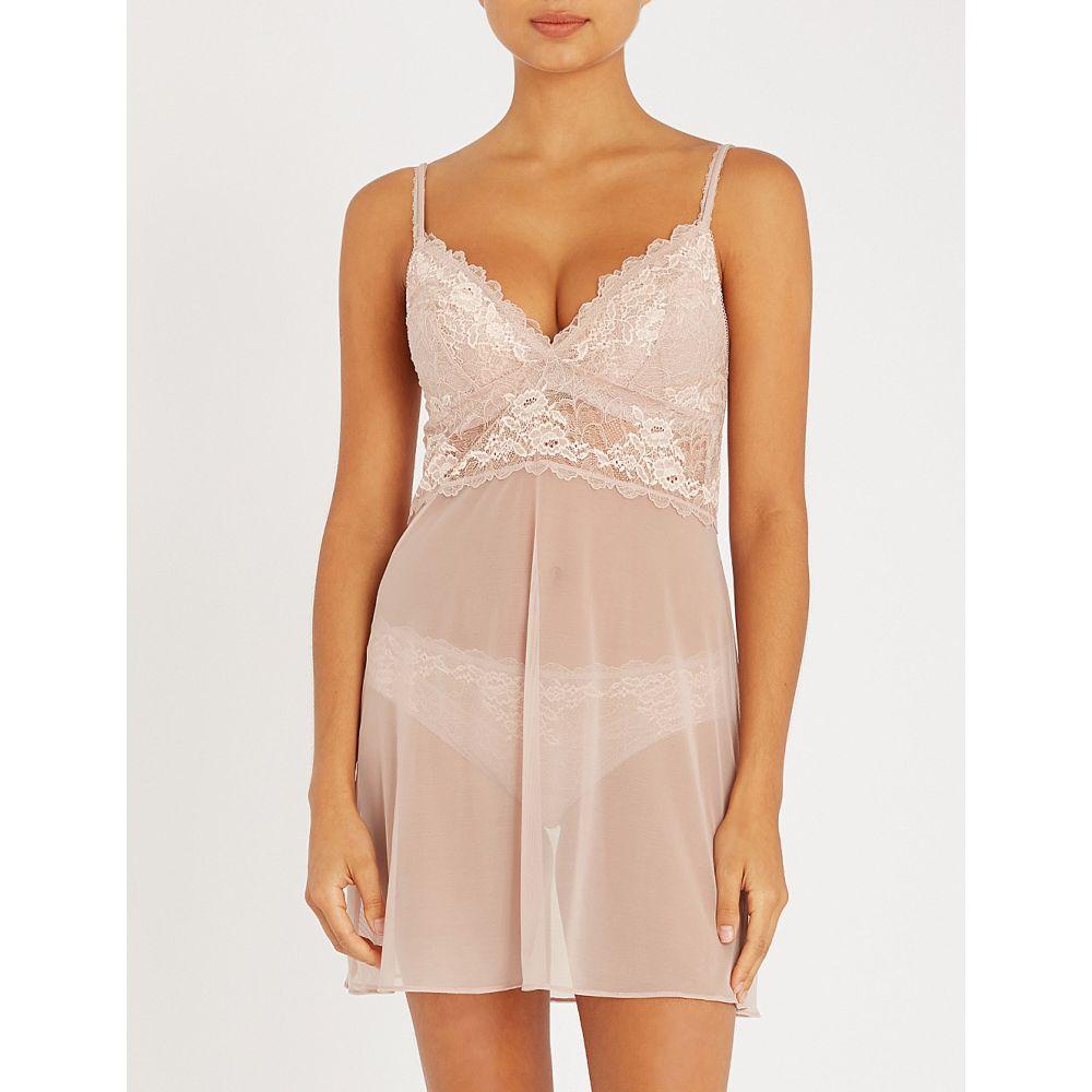 ワコール wacoal レディース インナー・下着 スリップ・キャミソール【lace perf stretch-lace and mesh chemise】Rose mist