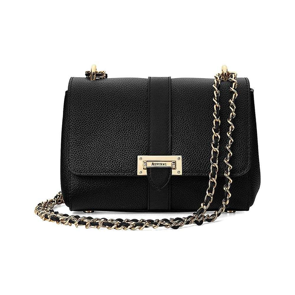アスピナル オブ ロンドン aspinal of london レディース バッグ ショルダーバッグ【lottie leather shoulder bag】Black