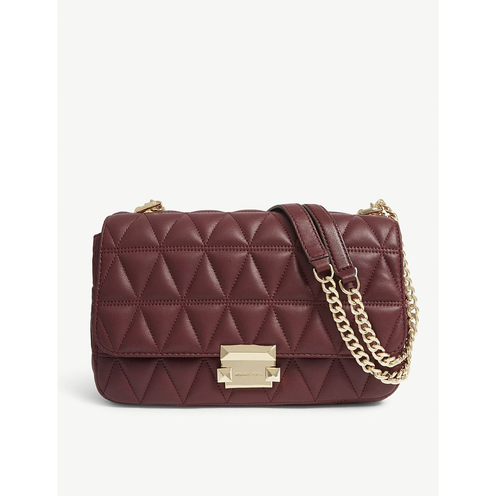 マイケル コース michael michael kors レディース バッグ ショルダーバッグ【sloan large quilted leather shoulder bag】Oxblood