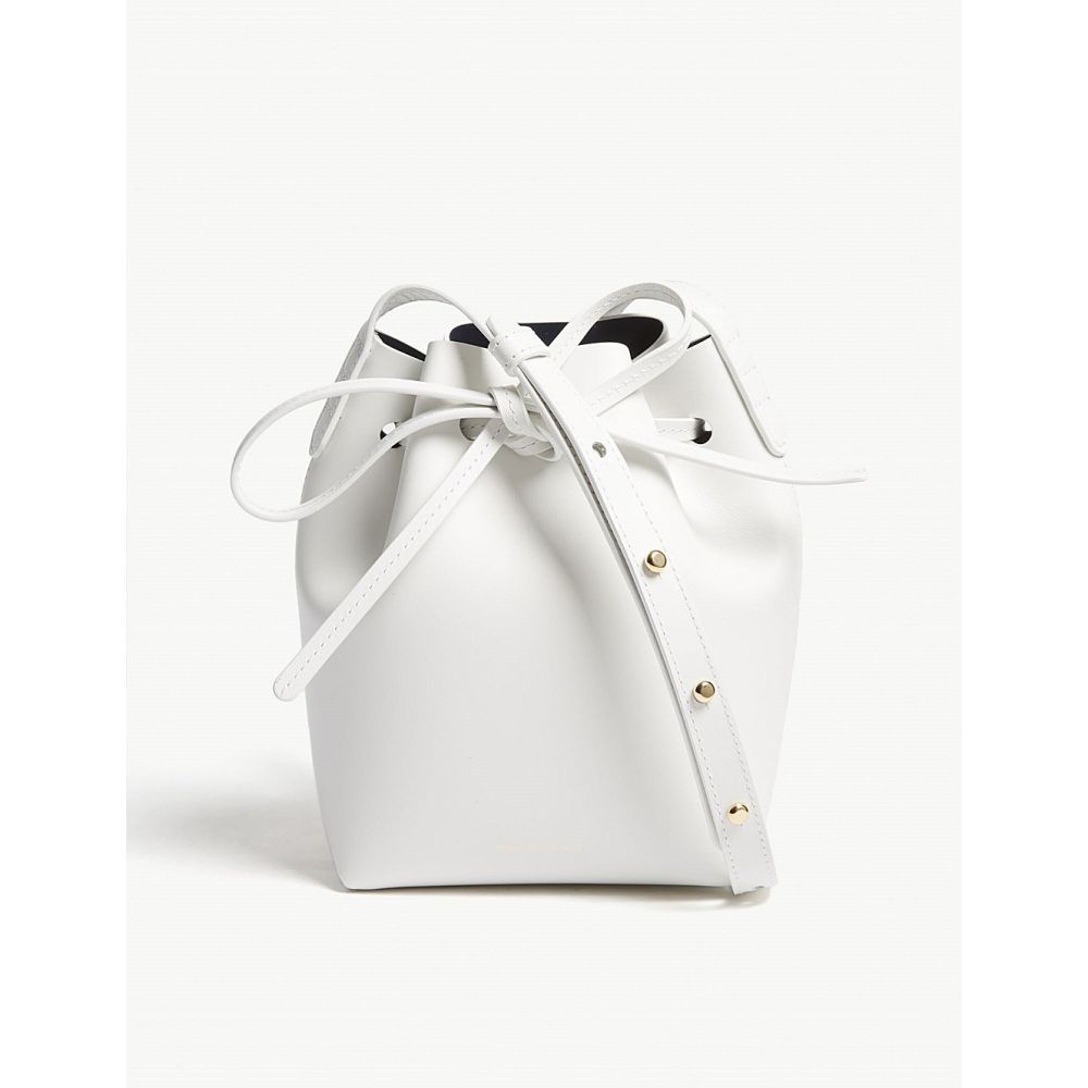 マンサーガブリエル mansur gavriel レディース バッグ【mini mini leather bucket bag】White/blu