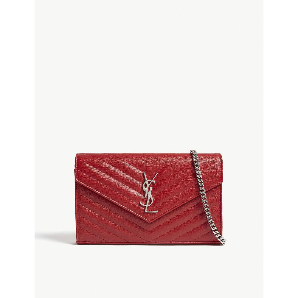 イヴ サンローラン saint laurent レディース バッグ ショルダーバッグ【monogram quilted-leather shoulder bag】Rouge
