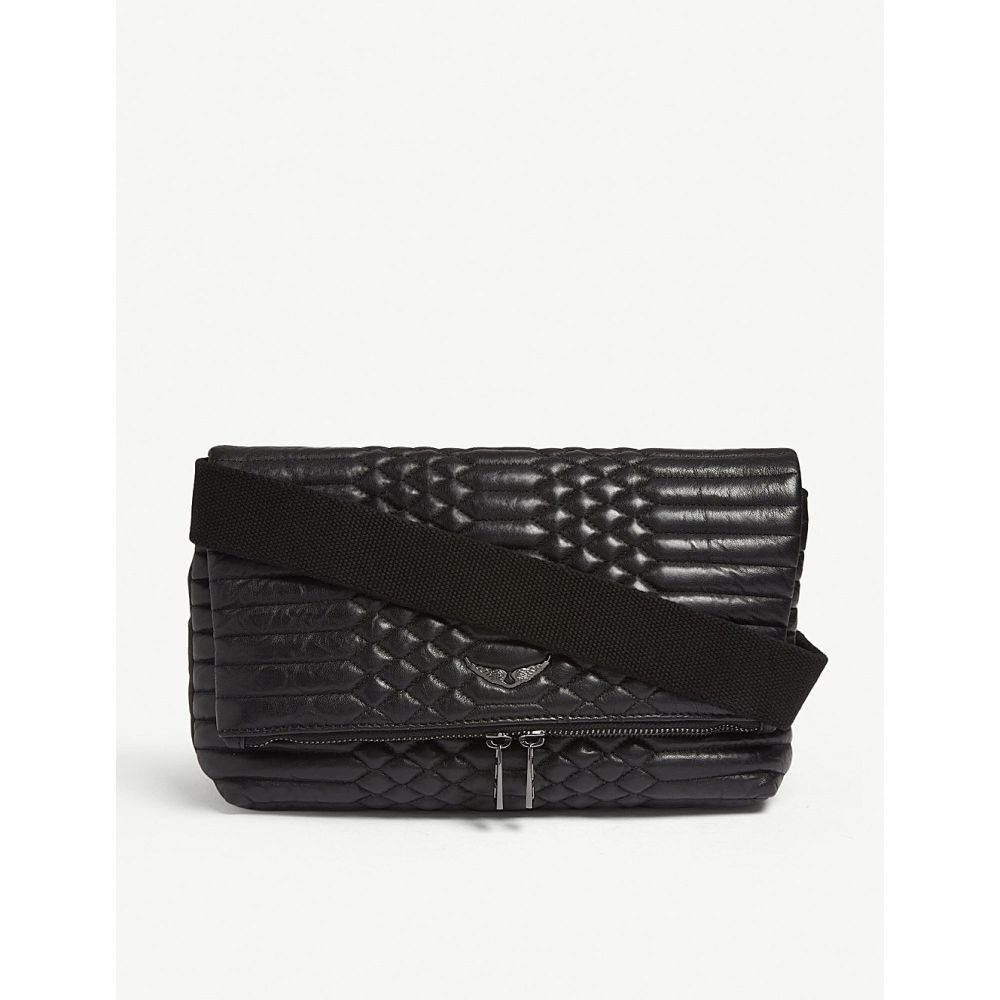ザディグ エ ヴォルテール zadig & voltaire レディース バッグ ショルダーバッグ【rocky quilted leather cross-body bag】Noir