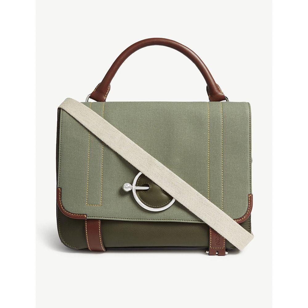 J.W.アンダーソン jw anderson レディース バッグ ハンドバッグ【disc leather satchel】Military green