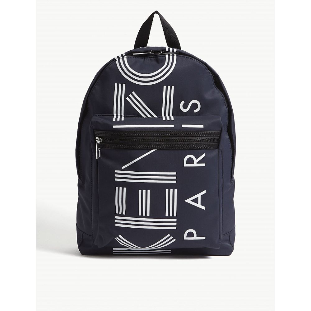 ケンゾー kenzo レディース バッグ バックパック・リュック【striped logo nylon backpack】Navy blue