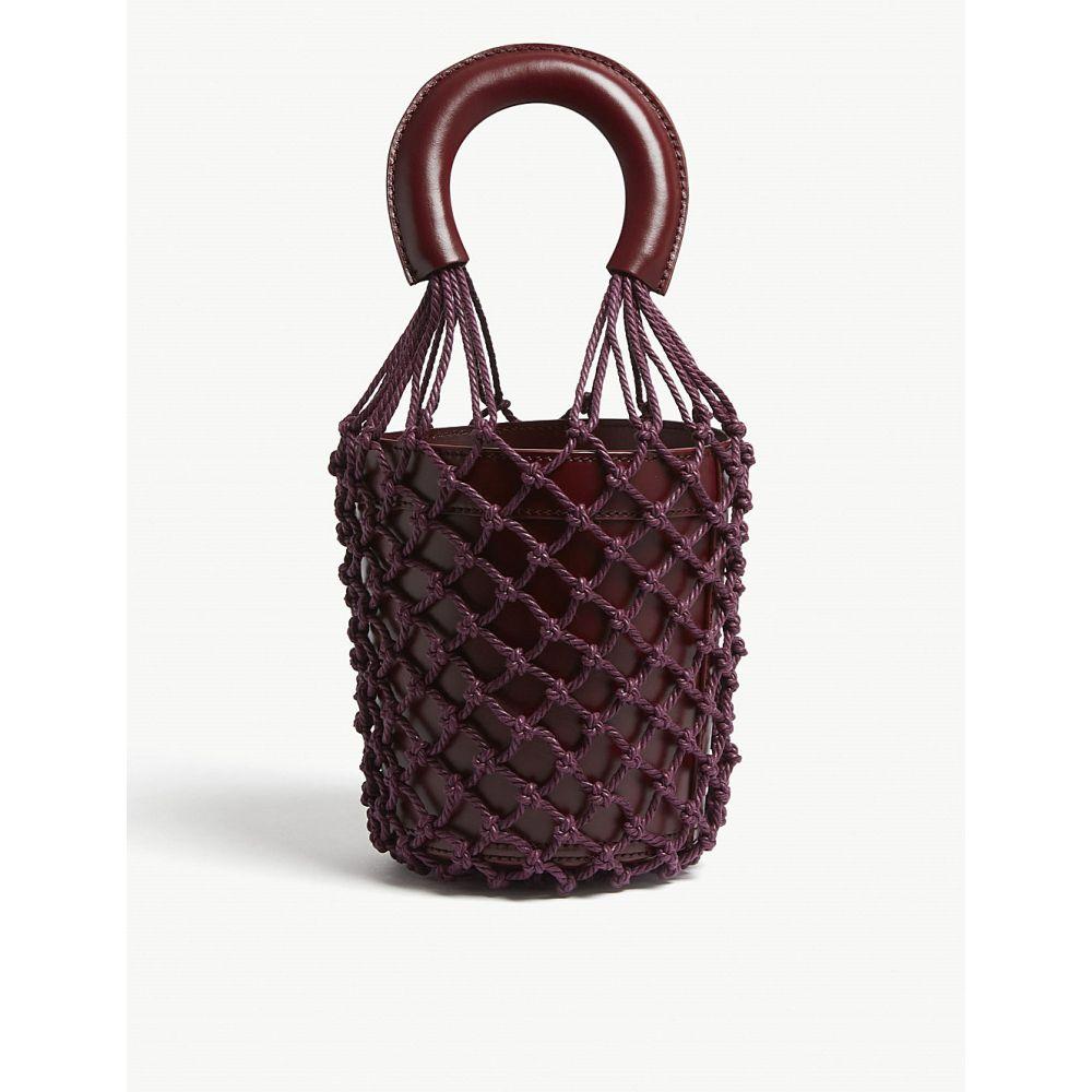 スタッド staud レディース バッグ ハンドバッグ【moreau netted leather bucket bag】Bordeaux