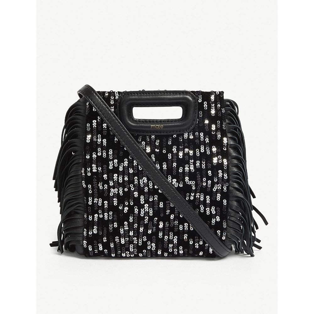 マージュ maje レディース バッグ ショルダーバッグ【m mini sequinned leather shoulder bag】Black