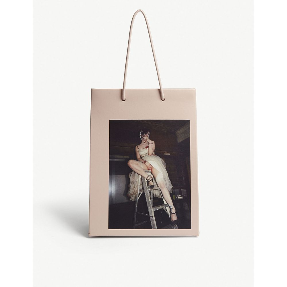 メデア medea レディース バッグ トートバッグ【trixie on a ladder tall leather tote】Pink