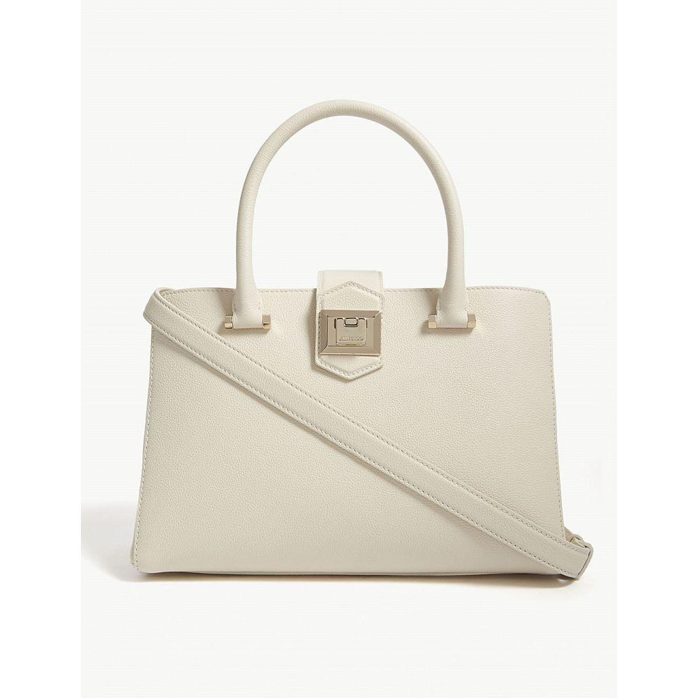 ジミー チュウ jimmy choo レディース バッグ ハンドバッグ【marianne/s medium leather top-handle bag】Linen