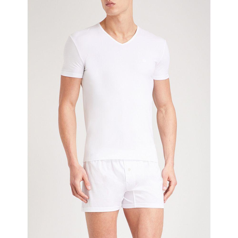 エルメネジルド ゼニア ermenegildo zegna メンズ インナー・下着 パジャマ・トップのみ【solid stretch-cotton pyjama top】White