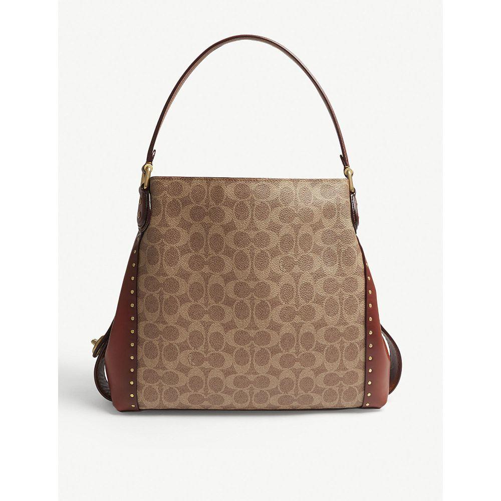 コーチ coach レディース バッグ ショルダーバッグ【edie 31 leather shoulder bag】B/rust
