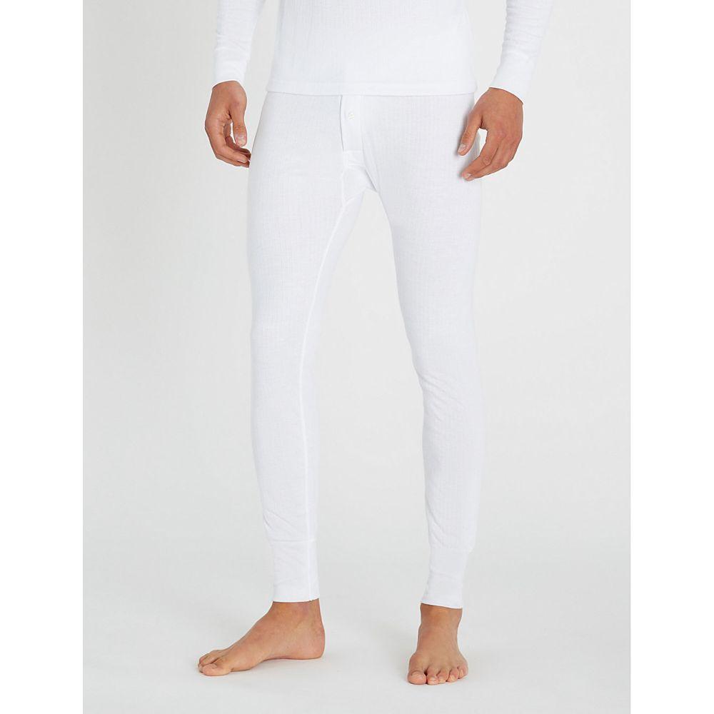 サンスペル sunspel メンズ インナー・下着 パジャマ・ボトムのみ【slim-fit thermal long johns】White