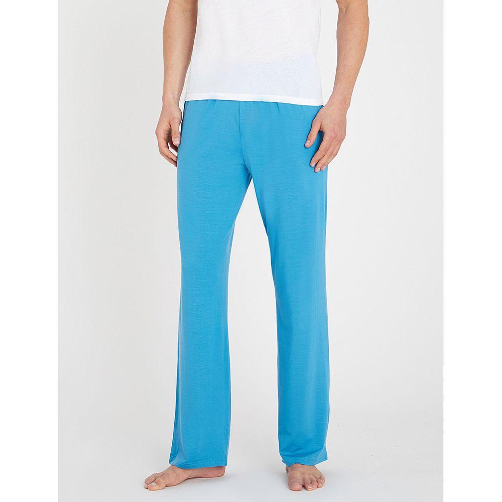 デリック ローズ derek rose メンズ インナー・下着 パジャマ・ボトムのみ【basel stretch-jersey pyjama bottoms】Blu